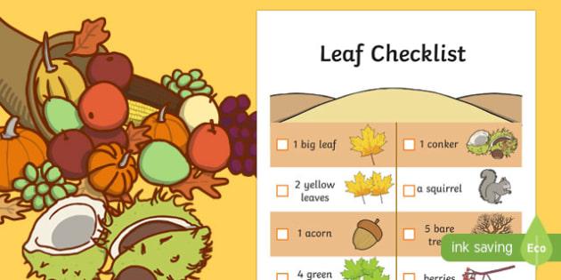 Leaf Hunt Checklist - checklist, autumn, leaf hunt, leaf, hunt, hunt checklist, leaf checklist, autumn leaf, autumn leaf hunt, autumn leaf hunt checklist