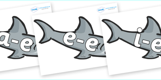 Modifying E Letters on Sharks - Modifying E, letters, modify, Phase 5, Phase five, alternative spellings for phonemes, DfES letters and Sounds