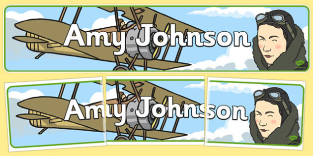 Amy Johnson Display Banner - display banner, amy, johnson, banner