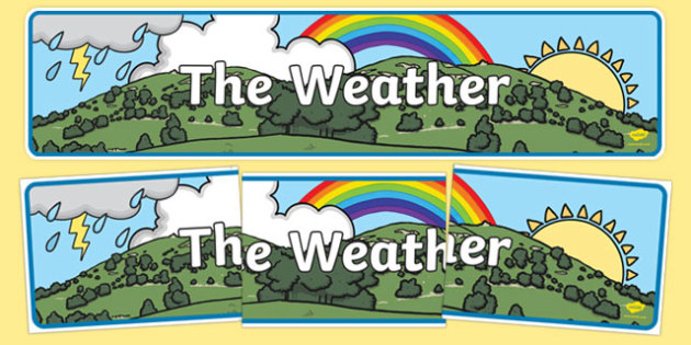 The Weather Display Banner - the weather, display banner, display, banner