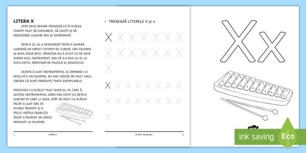 învățăm Litera X Broșură Cu Activități Litera X Sunetul X Litere