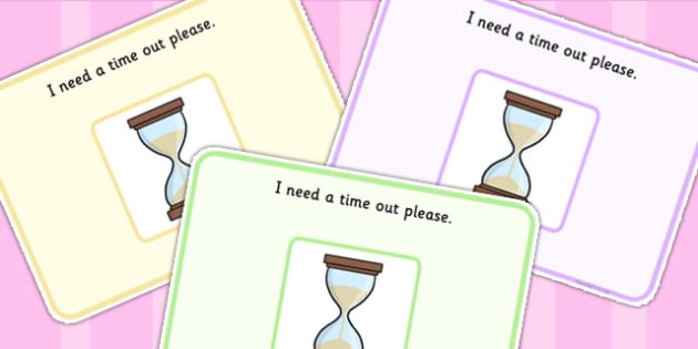 I Need A Time Out Support Cards - SEN, learning support, cards
