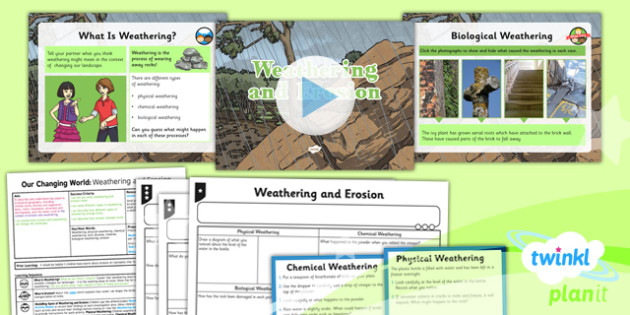 Geography: Our Changing World: Weathering and Erosion Year 6 Lesson Pack 1