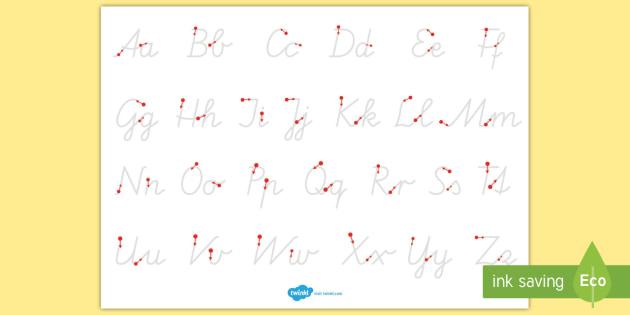 Groß und Kleinbuchstaben schreiben Arbeitsblatt Erstes