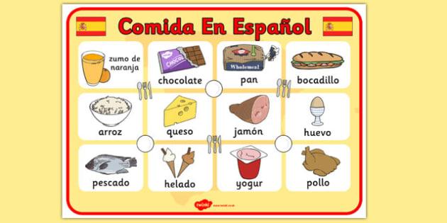 spanish food display poster posters displays spain visual