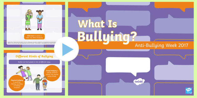 EYFS Anti-Bullying Week 2017  PowerPoint - bully, Relationships, Equality, Friendship, Difference, Prejudice,