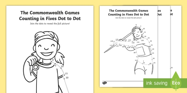 * NEW * KS1 The Commonwealth Games Counting In Fives Dot