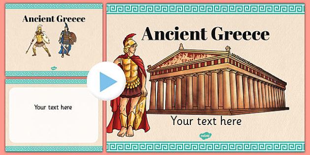 Ancient Greece Themed PowerPoint Template - Twinkl