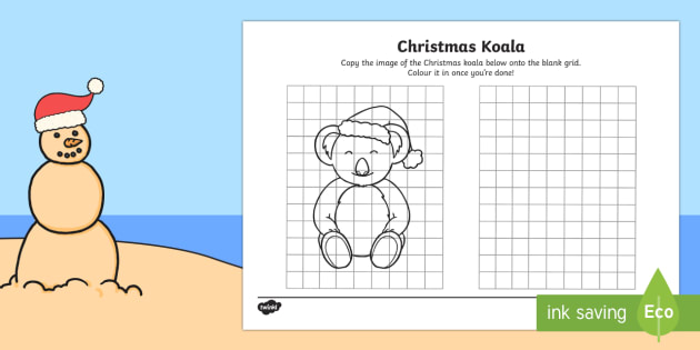 Copy the Christmas Koala Worksheet / Activity Sheet