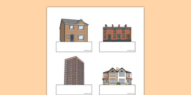 Editable Self-Registration Labels (Houses and Homes) - Self registration, register, house, home, building, editable, labels, registration, child name label, printable labels