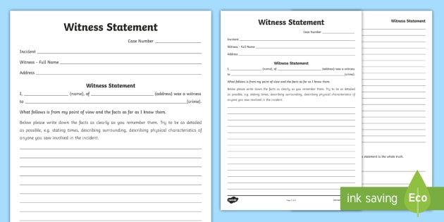 Witness statement template example witness statement template free new witness statement writing template courts lawyers thecheapjerseys Image collections
