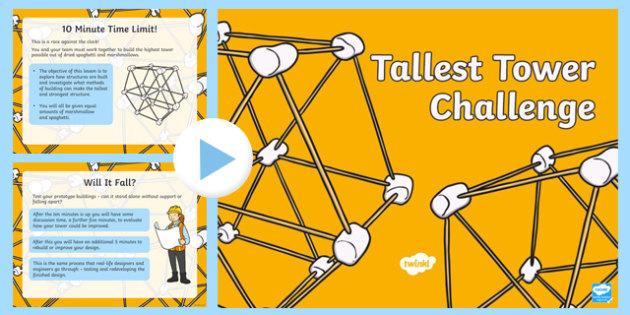 Tallest Tower Challenge PowerPoint