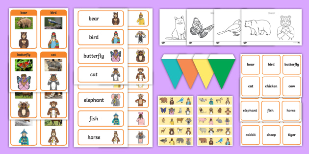 * NEW * British Sign Language (BSL) Animals Resource Pack ...