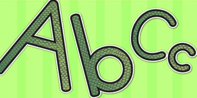 Reptile Skin Themed Display Lettering - lettering, letters