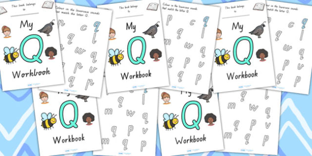 My Workbook Q Uppercase - letter formation, fine motor skills