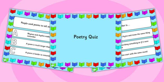 Poetry PowerPoint Quiz - poetry, poem, powerpoint, quiz, games