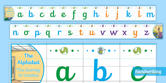 Cursive Lower Case Alphabet Line