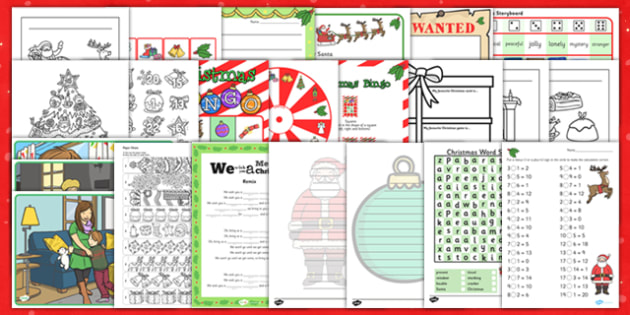 2-3 Christmas Activity Pack USA - 2-3 Christmas Activity Pack USA - 2-3, christmas, activity, pack, usa, america