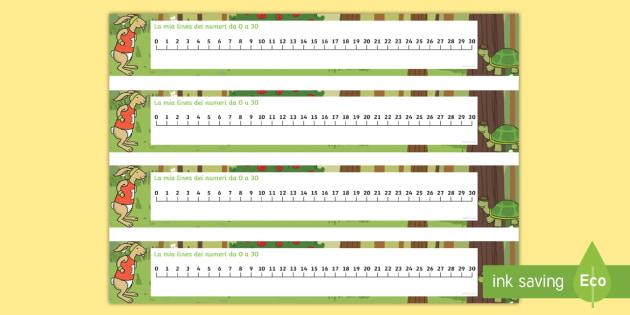 Linea numeri for Linea dei numeri da stampare