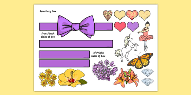 Jewellery Box Themed Mug Box Decals Pack - mug box, decals, themed, pack, jewellery box