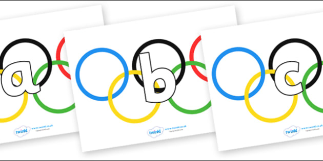 Phoneme Set on Olympic Rings - Phoneme set, phonemes, phoneme, Letters and Sounds, DfES, display, Phase 1, Phase 2, Phase 3, Phase 5, Foundation, Literacy
