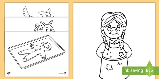 The Gingerbread Man Coloring Sheets (teacher Made)