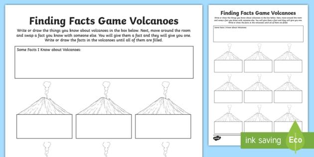 Volcano Finding Facts Worksheet / Worksheet - ACSSU096, Volcanoes ...