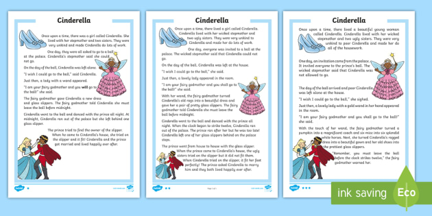 photo about Cinderella Story Printable named KS1 Cinderella Differentiated Looking through Knowing Video game