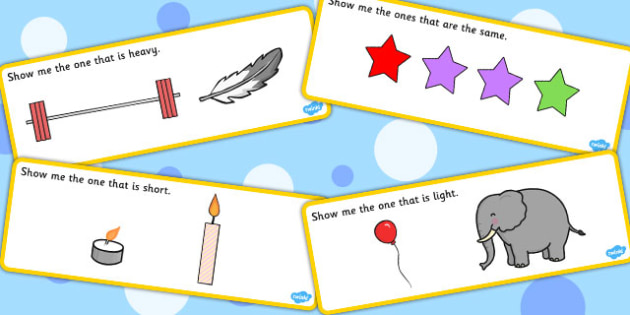 'Show Me The...' Basic Concept Cards Activity (Set Three) - visual aid, concepts