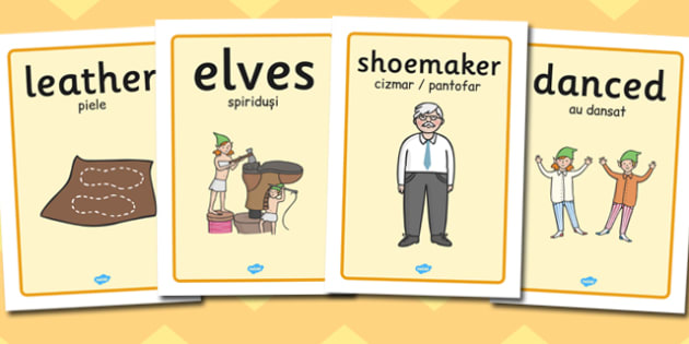 The Elves and the Shoemaker Display Posters Romanian Translation