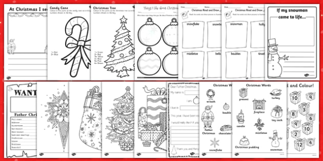 KS1 Christmas Activity Booklet - ks1, christmas, activity, booklet, christmas activity