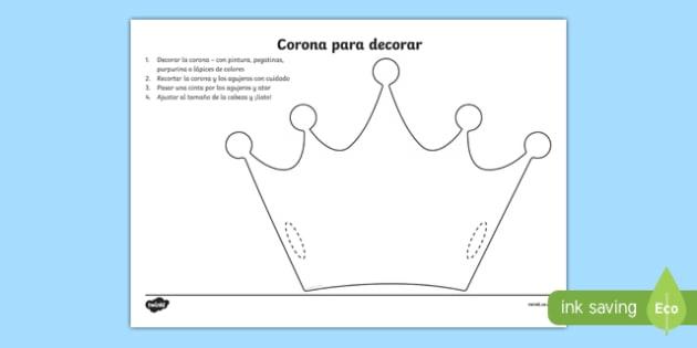 Corona para decorar-Spanish