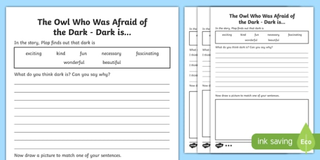 Dark Is... Differentiated Activity Sheet Pack-Scottish, worksheet