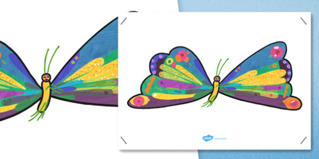 Large A2 Butterfly to Support Teaching on The Very Hungry Caterpillar - australia, caterpillar