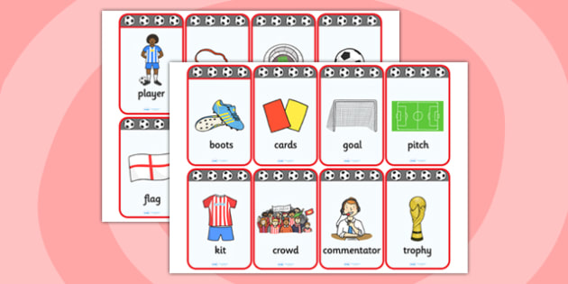 Football World Cup Flashcards - football, world cup, visual aid