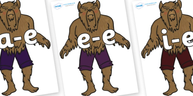 Modifying E Letters on Beast - Modifying E, letters, modify, Phase 5, Phase five, alternative spellings for phonemes, DfES letters and Sounds