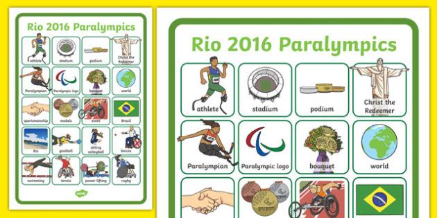 Paralympics Word Grid