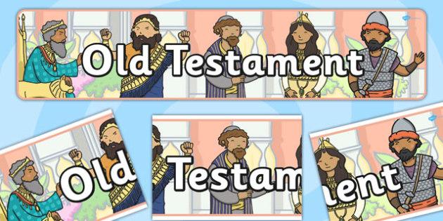 Old Testament Display Banner - old testament, display banner