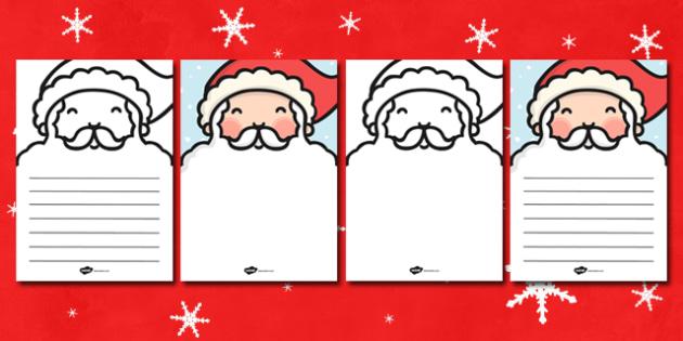 beard letter writing template santa beard letter