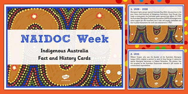 NAIDOC Week Fact Cards- Australia