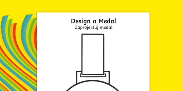 Design a Medal Polish Translation - polish, Olympics, Olympic Games, sports, Olympic, London, 2012, design, draw, create, design your own medal, Olympic torch, flag, countries, medal, Olympic Rings, mascots, flame, compete, tennis, athlete, swimming,