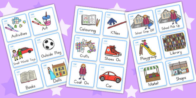Childminding Home Visual Timetable Cards - child minder, cards