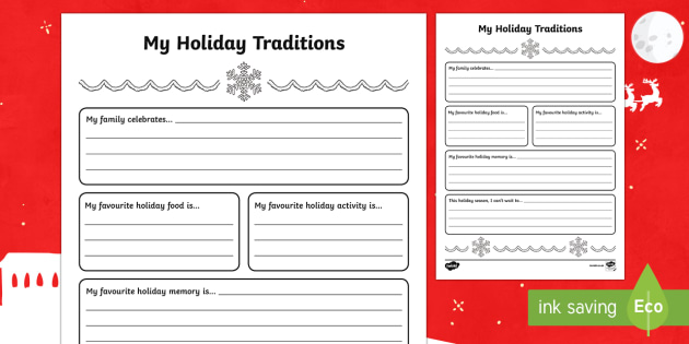 NEW 254 FAMILY TRADITIONS WORKSHEETS FOR KINDERGARTEN | family ...
