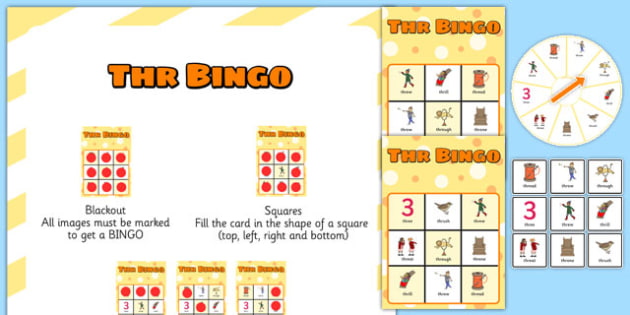 THR Spinner Bingo - speech sounds, phonology, articulation, speech therapy, cluster reduction