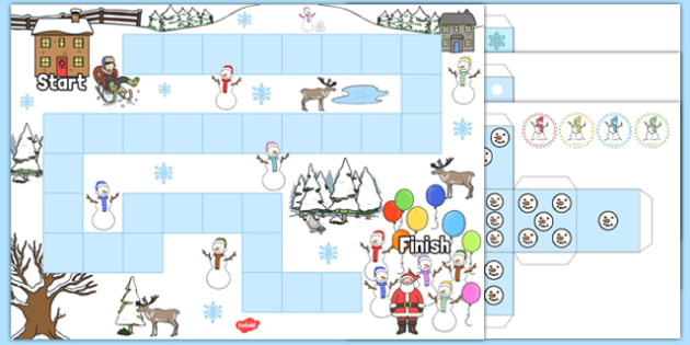 Snowman Board Game - Early Years, early years, board game, Winter, Christmas, story, The Snowman, Raymond Briggs.