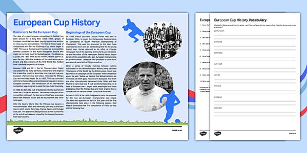 Euro 2016 Reading Comprehension Activities