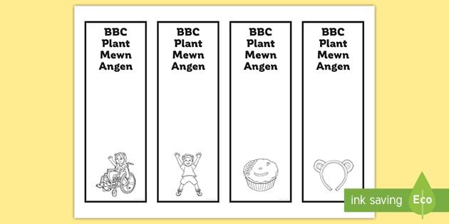 * NEW * Nodau Llyfr BBC Plant Mewn Angen