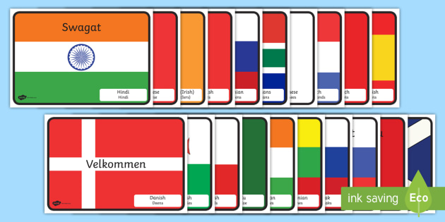 International welcome flags with country display posters international welcome flags with country display posters englishafrikaans places holiday greeting m4hsunfo