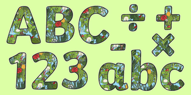 Plants Themed Display Letters and Numbers Pack - Science lettering, Science display, Science display lettering, plants, display lettering