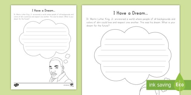I Have A Dream Worksheet Worksheet Mlk Black